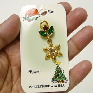 Jewelry - SNOW FLAKE brooch lapel pin . proudly made in USA